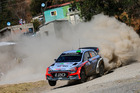 New Zealand rally champ Hayden Paddon tackles a tricky corner in the 2016 FIA World Rally Championship in Mexico. Photo/Hyundai Motorsport