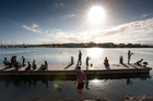File photo of people fishing in Ahuriri while out and about on a sunny day in Napier. Photo / Glenn Taylor