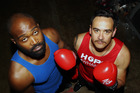 FIRST TIMERS: Kareem Johnson, left, and Tamati Kemp will clash in the feature bout at Saturday night's Hope 4 Whanau Fight Night. PHOTO/PAUL TAYLOR