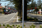 LESS IS MORE: Opposing traffic on the coastal side of Marine Parade is being temporarily trialled. PHOTO/WARREN BUCKLAND