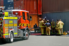 All clear: The fire service contained and cleaned up a chemical spill at Napier Port yesterday. Photo/Warren Buckland.