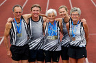Northland brought home a bunch of medals from the 2016 World Masters Athletics Championships. From left, Ian Calder, Mark Lett, Sien Van Der Vieken, Delwyn Smith and Judith Stewart. Photo/John Stone