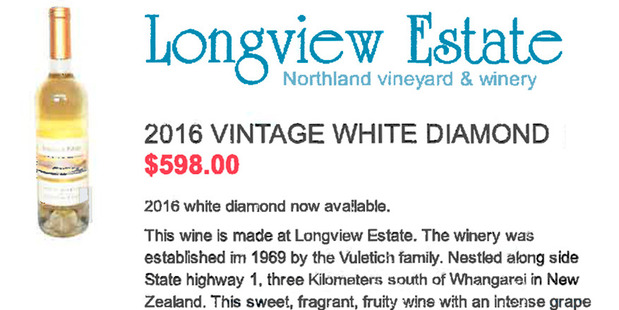 The winery's flagship wine is now out of reach of local buyers.