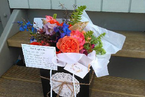Flowers by Petite Posy Florist Yvette Jackson.