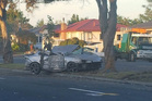 Crash: A two-car collision on Kennedy Rd in Napier early this morning has left a man and woman with serious injuries.