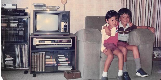 Socksay Chansy with his brother Peter when they were younger. Photo / Supplied