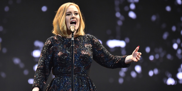 Fans are going nuts over Adele's impending visit to New Zealand. Photo / AP