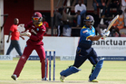 Sri Lanka batsman Kusal Mendis plays a shot during the ODI against West Indies at Harare Sports Club in Harare. Photo / AP