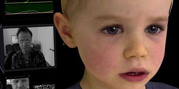 Loading Images show the Baby X intelligent, emotionally responsive avatar. Photo / Supplied