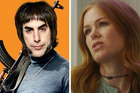 Married couple Sacha Baron Cohen as Grimsby, left, and Isla Fisher as Karen Gaffney in their respective flops.