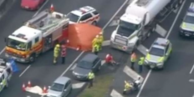 Heke stands accused of murder after what was believed to be a road rage incident. Photo / 7 News Queensland Facebook
