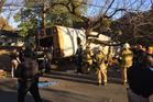 There were 'multiple fatalities' and at least 23 children hurt in this bus crash in Chattanooga, Tennessee. Photo / Chattanooga Fire Department