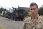Lance Corporal Drew Joyce talks about the army aid convoy to Kaikoura