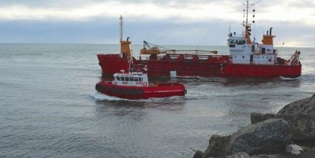Kaikoura's quakes may provide an opportunity for Westport's dredge Kawatiri, which has been underused since Holcim left Westport and dredging of the port stopped. Photo / Westport harbour