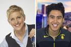Fabian Anderson will join Ellen Degeneres' show as an intern. Photos / Supplied, Facebook