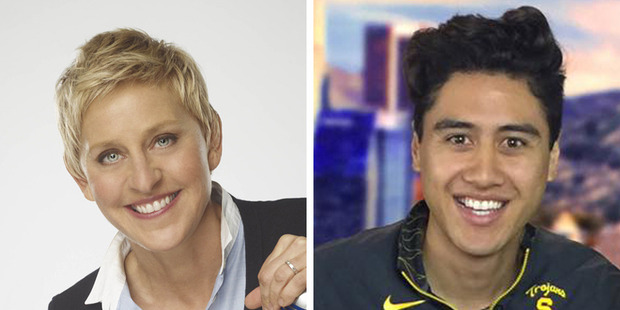Fabian Anderson will join Ellen Degeneres' show as an intern. Photos / Supplied, Facebook