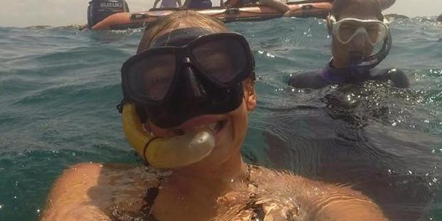 Elly Warren was diving in Mozambique. Photo / Facebook