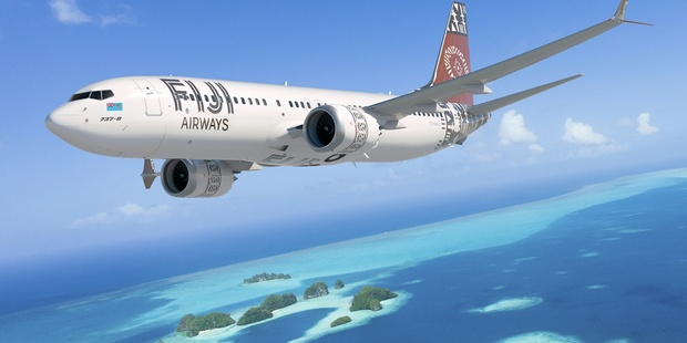 An artist's impression of Fiji Airways' new Boeing 737 MAX 8 planes.