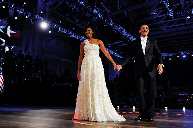 President Barack Obama and First Lady Michelle Obama enter the Neighborhood Ball in Washington, D.C. Photo / Washington Post