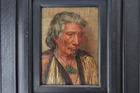 Memories - An Arawa Chieftainess - Rakapa, by Charles Frederick Goldie. Oil on wood panel. Signed & dated 1910. Picture supplied.