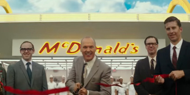 Michael Keaton as Ray Kroc, who made McDonald's as we know it today.