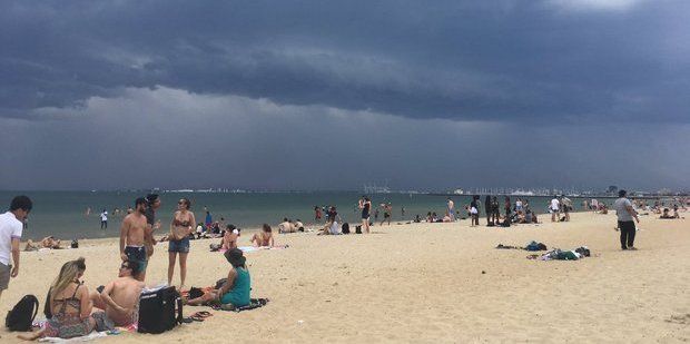 "The combination of warm weather, a high pollen count and stormy conditions has been blamed for the rare and dangerous ""thunderstorm asthma"" that hit Melbourne. Photo / Nick Allinson, Twitter"