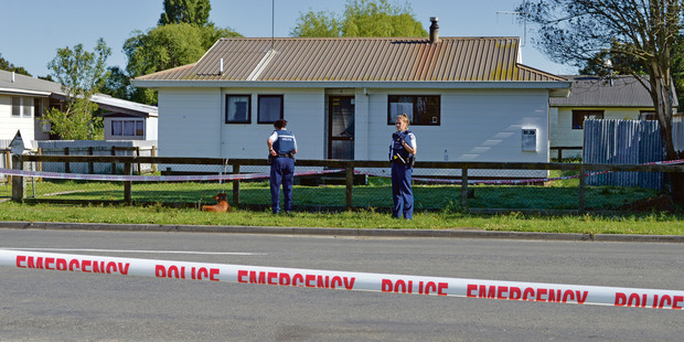 Police are investigating a homicide on Wellington St in Opotiki  last night. Photo / Supplied via Whakatane Beacon