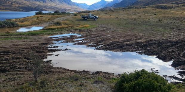 The Department of Conservation is considering restricting 4WD vehicle access in the Mavora Lakes and Borland areas after inconsiderate 4WD drivers caused extensive damage to the Conservation Park land. Photo / DOC