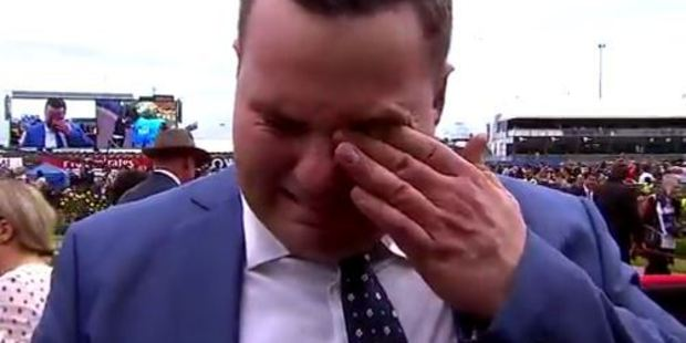 Loading New Zealand man Bryce Heys teared up in an emotional interview earlier this month. Photo / Racing.com