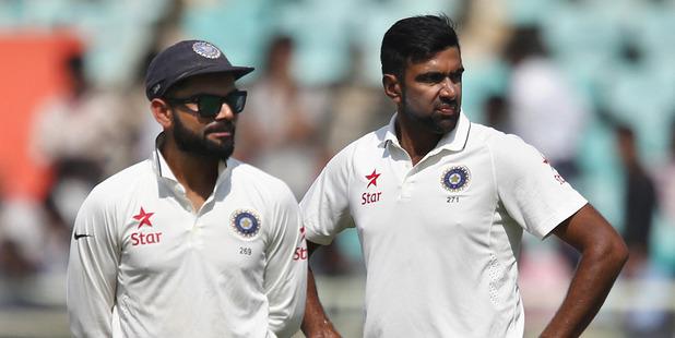 Virat Kohli, left. Photo / AP