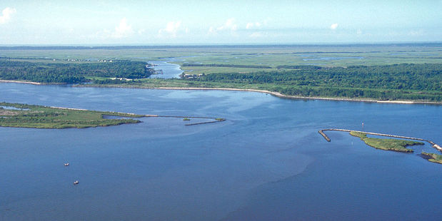 Lake Borgne in New Orleans is thought to have treasure buried within it. Photo / Wikimedia Commons