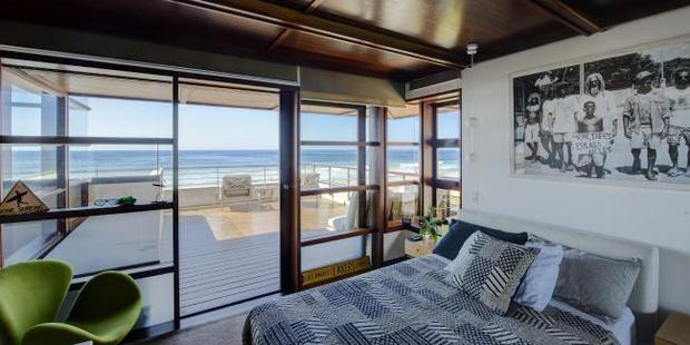 Sleeping on the sand. One of the bedrooms overlooking the beach. Supplied by Foxtel