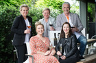 Winefriend team l-r Cath de Groot (Investor), Yvonne Lorkin (Chief Tasting Officer), Sarah Wickens (Investor), Debbie Sutton (CEO) and Rob Fyfe (Investor). Photo/Nick Reed
