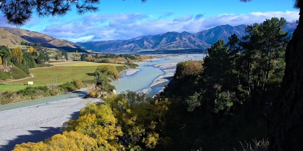 Waiau River from Riverview lookout, Hanmer Springs, Canterbury. Photo / 123RF