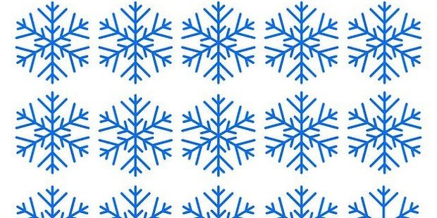 A new festive puzzle from Playbuzz is asking users to spot the unique snowflakes in the sequence. Photo / Playbuzz