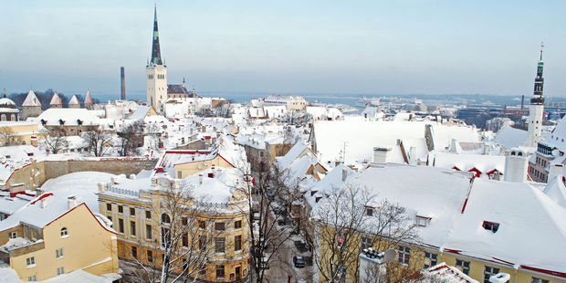 Winter view of Tallinn Old Town, Estonia. Photo / 123rf