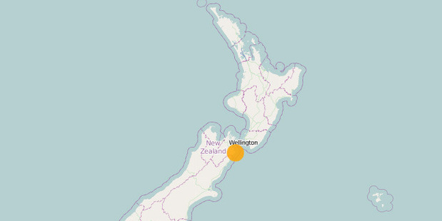 The quake was at a depth of 11km and was 15km east of Seddon. Photo / GeoNet