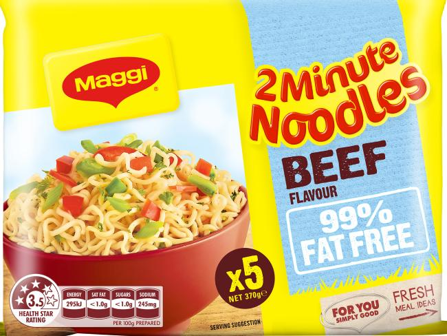 One of the new instant noodle packets. Photo / Maggi