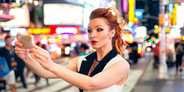 New York's Times Square is one of the most popular places in the world to snap a selfie for Instagram. Photo / 123RF
