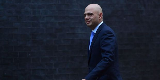 British Communities and Local Government Secretary Sajid Javid. Photo / AFP