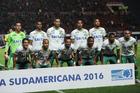 Players of Brazil's Chapecoense team pose before a Copa Sudamericana match against Argentina's San Lorenzo. Photo / AP