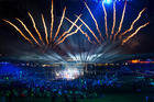 Fireworks make the end of the closing ceremony at Hampden Park, making the end of the XX Commonwealth Games in Glasgow. Photo / Greg Bowker