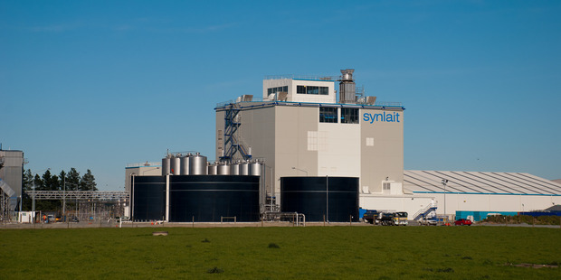Synlait milk processing plant in Dunsandel Canterbury. Photo / File