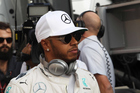 Lewis Hamilton has been forced to abandon his return to track action after he complained of feeling unwell. Photo / Photosport