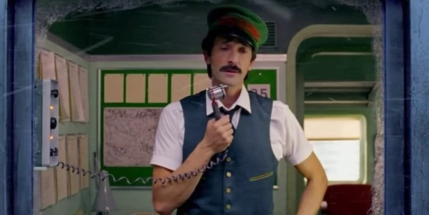 Adrien Brody stars in Wes Anderson's Christmas ad. Photo / Youtube