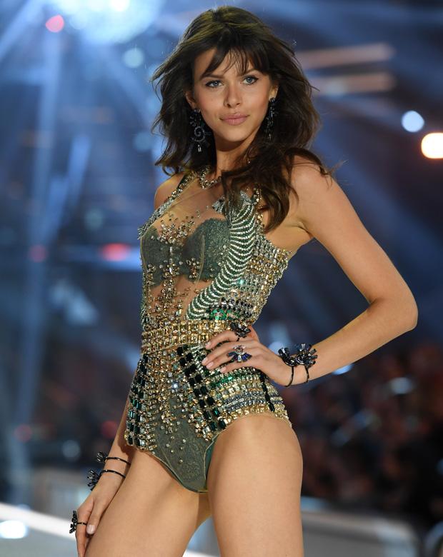 Georgia Fowler on the Victoria's Secret catwalk in Paris. Photo / Getty