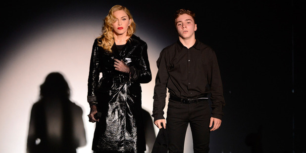 Madonna and Rocco Ritchie perform during Madonna and Steven Klein secretprojectrevolution September 24, 2013 in New York. Photo / Getty