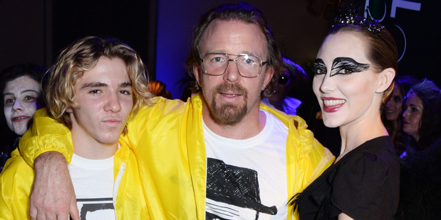 Rocco Ritchie, Guy Ritchie and Jacqui Ainsley attend the Unicef UK Halloween Ball. Photo / Getty