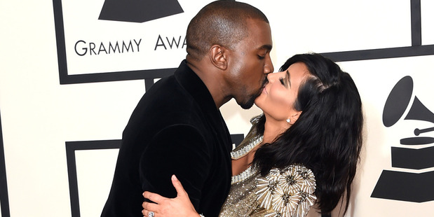 Kanye West and Kim Kardashian. Photo / Getty