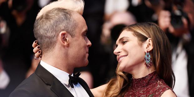 Robbie Williams and Ayda Field. Photo / Getty